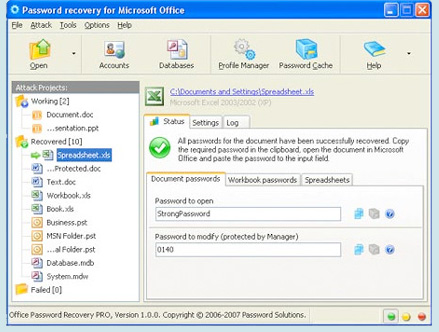 Password Recovery Pro screenshot